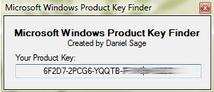 Recupera el serial de tu instalación de Windows Windows-key-finder