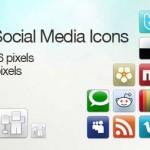 Iconos sociales con estilo clásico