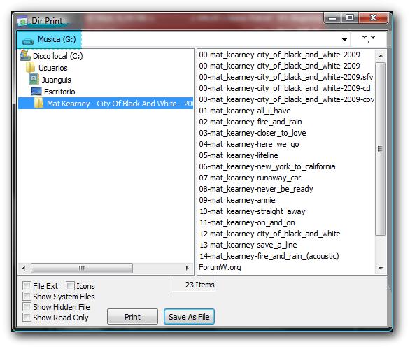 directory-print Como imprimir la lista de los archivos de un directorio - REPARACION ORDENADOR PORTATIL MADRID