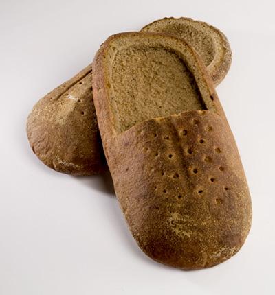 Pantuflas de pan