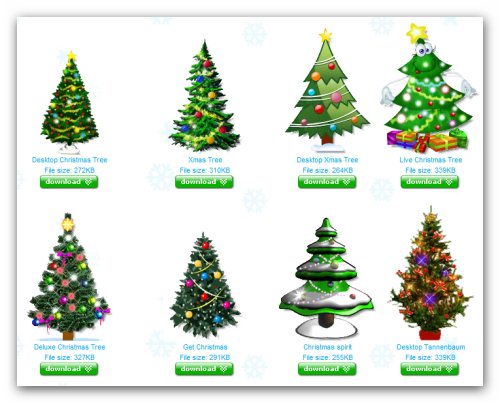 arbolitos de navidad animados para el escritorio - Arbolitos De Navidad