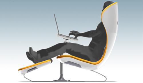 Silla ergon mica con soporte para laptop for Sillas ergonomicas para pc