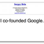 Humor: El curriculum de Sergey Brin