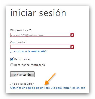 hotmail con codigo html: