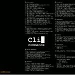 Un wallpaper con los comandos básicos de Linux
