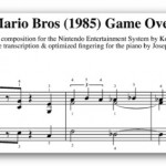 Partituras de Mario Bros para piano