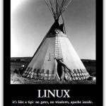 Humor: Linux es como una carpa de indio
