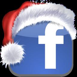 Mensajes y SMS navideños para felicitar en la Navidad 2011 Facebook-icon-christmas