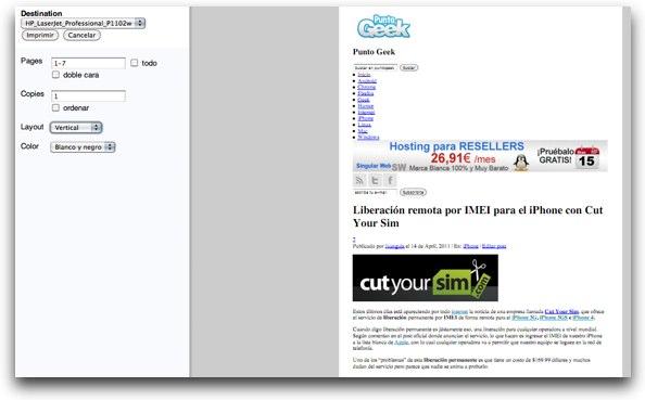 activar la vista previa de impresión en Chrome y notificar