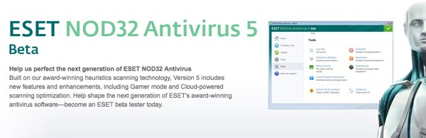 Descargar NOD32 Antivirus 5 y Smart Security Beta gratis