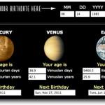 ¿Qué edad tendrías en otros Planetas?