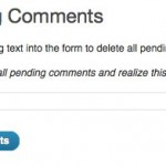 Eliminar todos los comentarios pendientes de moderación en WordPress de una sola vez
