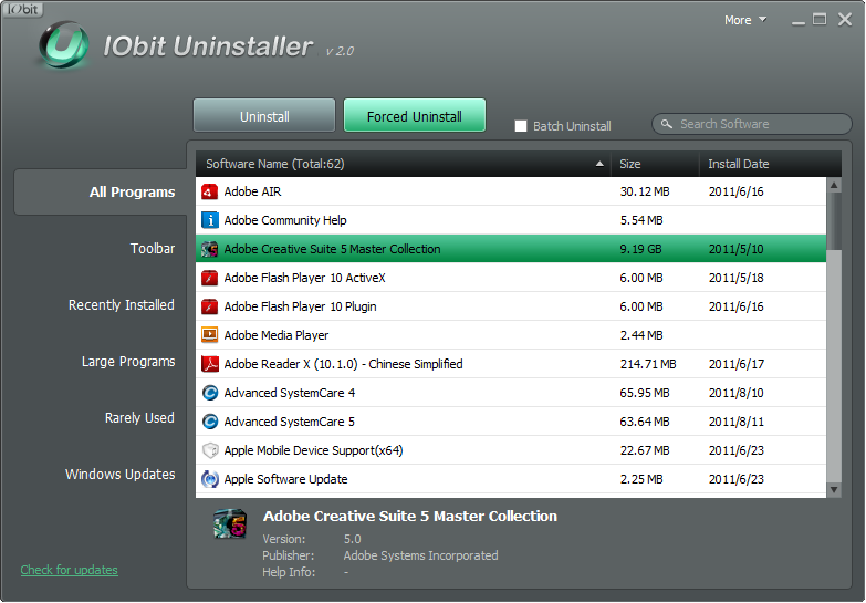 Iobit uninstaller for 64-bit - add