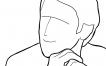 Dibujos de poses que puede adoptar un modelo varón [Fotografía]