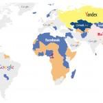 Mapa con los sitios más visitados del mundo