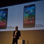Motorola presentó dos nuevos equipos: El RAZRi con procesador Intel y el RAZR HD