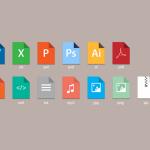 Iconos de tipos de archivos estilo Metro