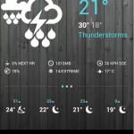 1Weather: Aplicación del pronóstico del tiempo con un diseño hermoso [Android]