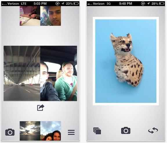 Dblcam: Toma fotos con la cámara frontal y trasea al mismo tiempo [iPhone]
