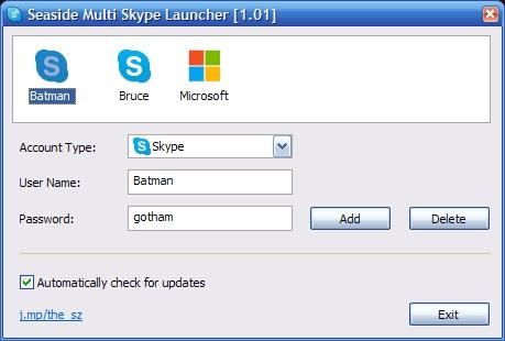 Abre múltiples cuentas de Skype con Seaside
