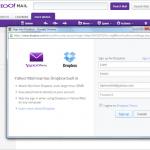 Yahoo! ahora integra Dropbox en su correo