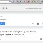 Extensión de Google Keep para Firefox