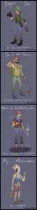 Los personajes de Super Mario en versión Hispter