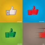 El famoso Me Gusta de Facebook representado por superhéroes