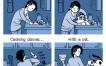 La vida con y sin un gato [Humor]