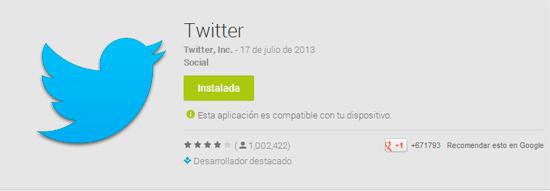 Aplicación de Twitter en Android