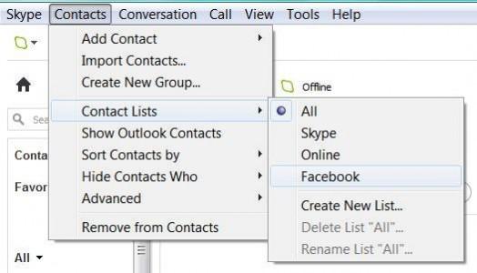 Conectar facebook y skype
