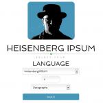 Generador de Lorem Ipsum con las frases de los personajes de Breaking Bad