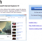 Google lanza plugin para reproducir videos WebM en Internet Explorer