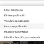 Google+ ya permite embeber publicaciones