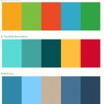 Paleta de colores de sitios web con estilo flat