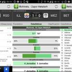 Aplicación para conocer resultados de fútbol en Android