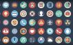 Colección gratuita de iconos variados estilo flat