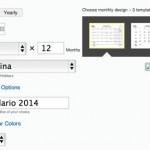 Generador de calendarios 2014 para descargar en PDF