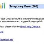 Gmail sufre una pequeña caída
