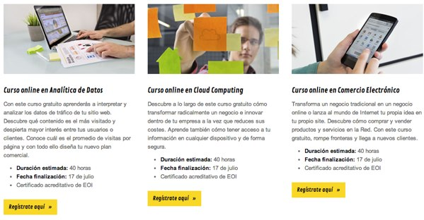 Google ofrece cursos gratis sobre Marketing Digital, Comercio Electrónico, Analítica de datos y Cloud Computing