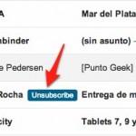 RemoveMe te permite desuscribirte de listas de mail con un click