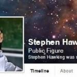 Stephen Hawking se une a Facebook